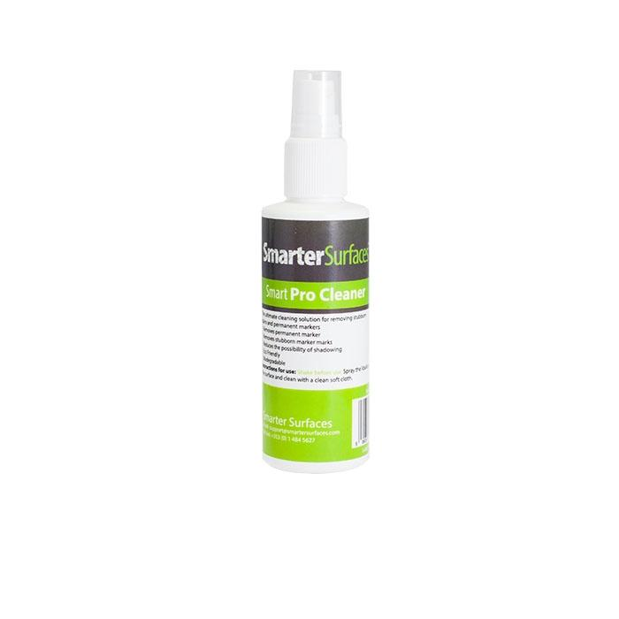 bottle of smarter surfaces pro cleaner to remove stubborn marks
