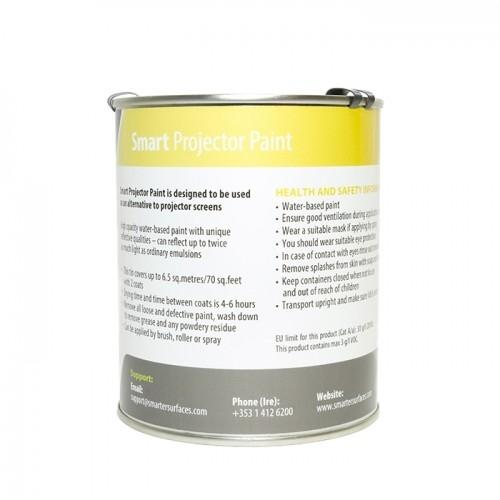 smarter surfaces projector screen paint tin