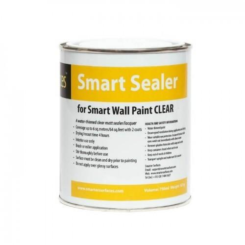 tin of clear sealer for smart whiteboard paint