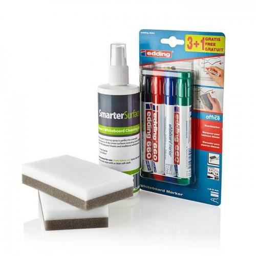 smarter surfaces user kit including accessories for whiteboards