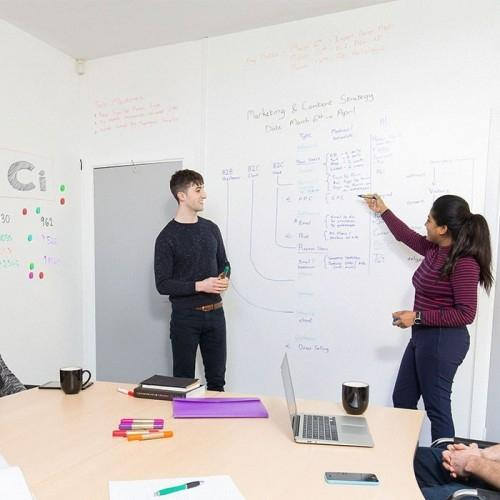Smart Whiteboard Wallpaper Low Sheen used in meeting