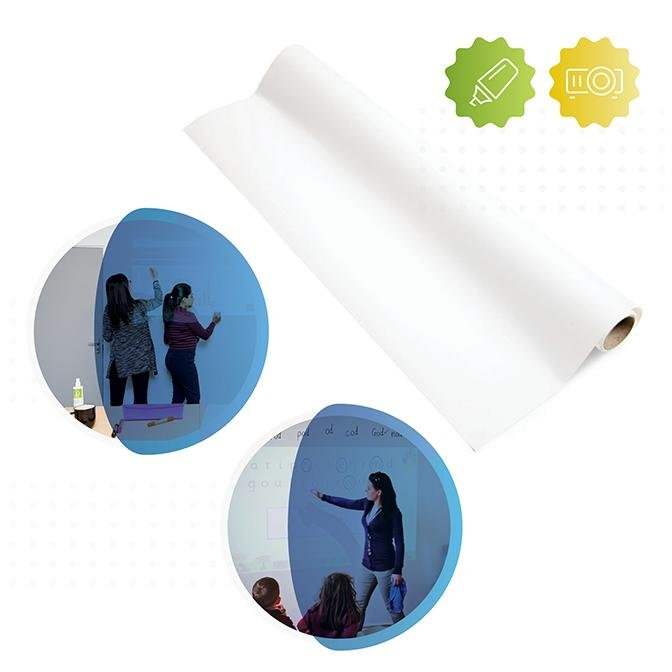 Whiteboard Wallpaper Low Sheen With Projection Functionality