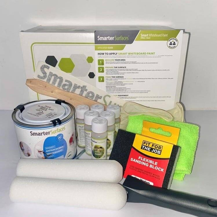 Smart Antimicrobial Whiteboard Paint full kit content and application guide
